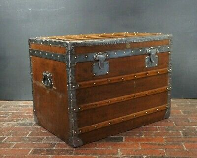 Fabulous Antique Steamer Trunk By Moynat