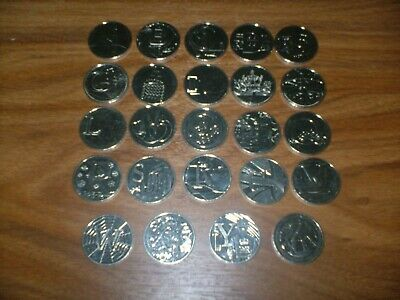 ALPHABET 10p  2019  NEARLY FULL SET ONLY NEED 2 COINS ONE OF CHEAPEST ON EBAY