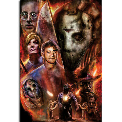 T376 Friday the 13th Jason Voorhees Classic Horror Movie Art Silk Poster