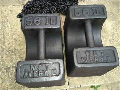 Vintage 56lb Avery Cast Iron Weights - ballast for gazebo market stall tent boat