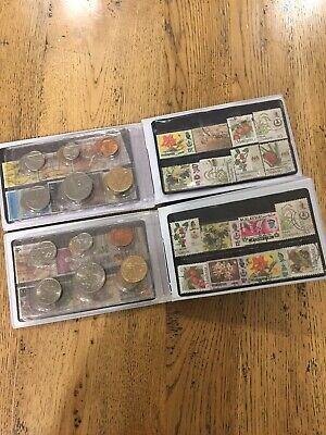 Singapore Malaysia Collectors Coins And Stamps Bulk 1988 - 1999  Dollars Cents