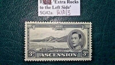 ASCENSION ISLAND SG42a 3d Variety Row 10/3 Extra Rocks to the Left Side MM
