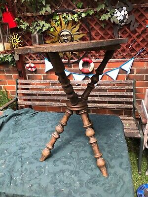 Antique pine tripod gypsy table Side Table Free UK P&P