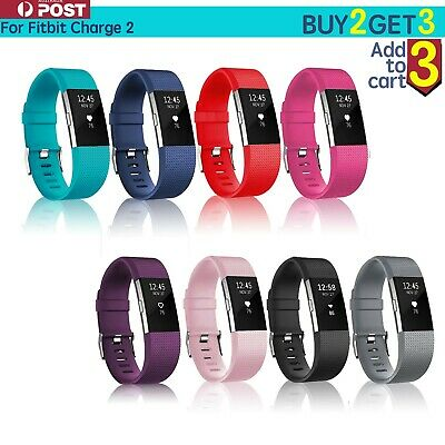Fitbit Charge 2 Bands Replacement Silicone Wristband Watch Strap Bracelet