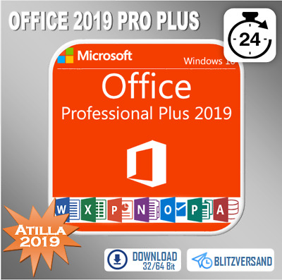 MS Office 2019/2016/2013/2010 Professional Plus 32&64Bit 1-5PC Direkt per E-mail
