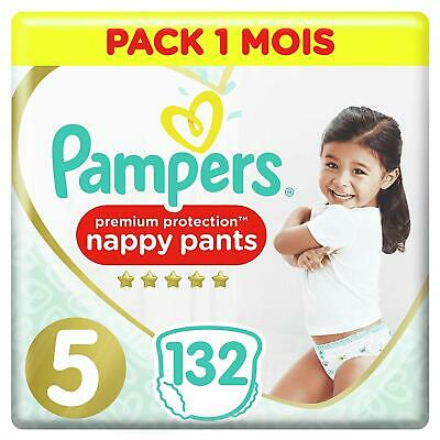 Pampers Premium Protection - Taille 5 - 132 Couches-Culottes - Pack 1 Mois