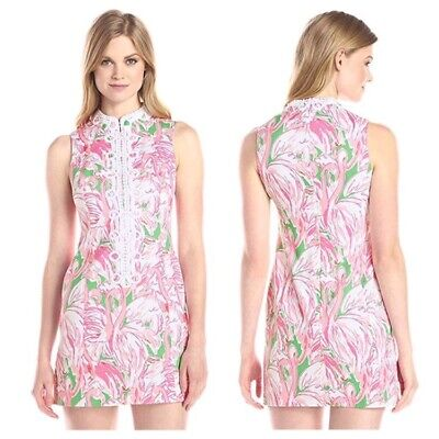 2cb975c813c907 LILLY PULITZER CLASSIC Shift Dress, Size 6, Flamingo And Island ...