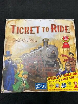 Ticket to Ride Board Game 100% Complete Days of Wonder