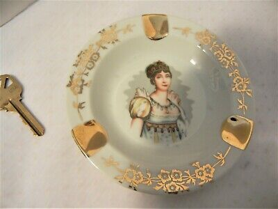 Vintage Limoges French Porcelain Ashtray Empress Josephine