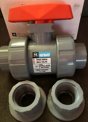 "New Hayward TB2100ST 1"" True Union Ball Valve S/T CPVC Viton"