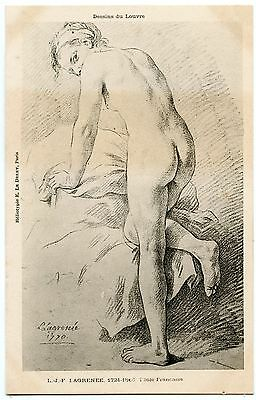 Nude Artistique. Naked. Drawings of the Louvre. L. J.F.Lagrenee. French School