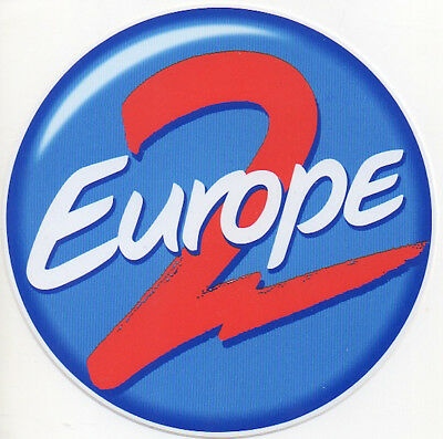 sticker autocollant EUROPE 2 - french hit RADIO station - 10 cm