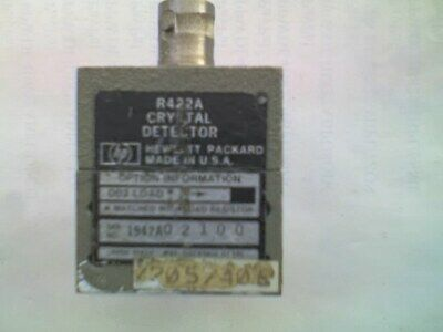 HEWLETT PACKARD WAVEGUIDE TO BNC Crystal Detector Model R422A 40GHz ? - T.
