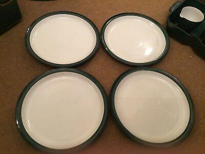 Denby Greenwich Tea Plates X 4 Approx 6.5 Inches