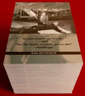 THE QUOTABLE JAMES BOND - HUGE 100 Card Base Set, Complete - RITTENHOUSE 2004
