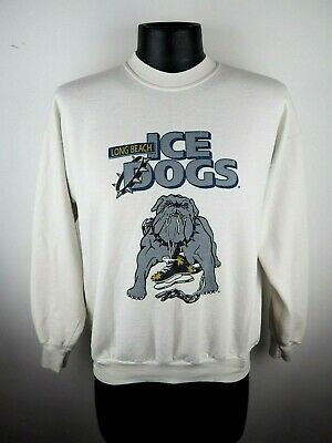 VINTAGE LONG BEACH Ice Dogs ECHL Bauer Hockey Jersey Size XL