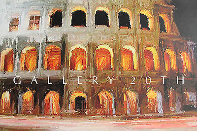 Breathtaking Coliseum Painting! Rome Arena Greece Art Colloseum Drawing Orig Vtg