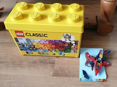 LEGO CLASSIC 10698 BOX WITH QUANTITY OF MIXED LEGO WITH BOX. And red arrow jet