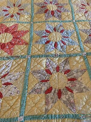 Vintage 8 Point Star Patchwork Cutter Quilt Craft Project 60 x 72""