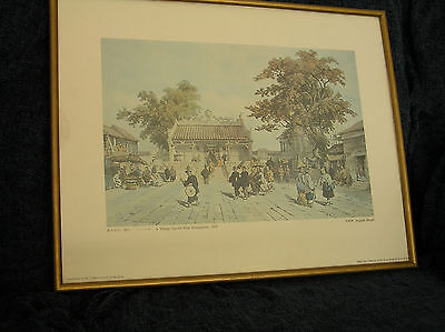 A Pair of Framed Chinese Prints after Auguste Borget 1838