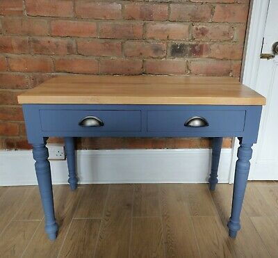 Antique Console Table On Turned Legs