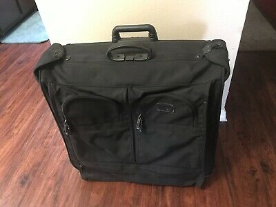 Tumi Black Garment Bag Luggage Alpha Vintage Rolling Wheels Soft Side Men's