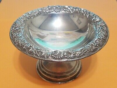 S. Kirk & Son Inc REPOUSSE Sterling Silver Compote #435F