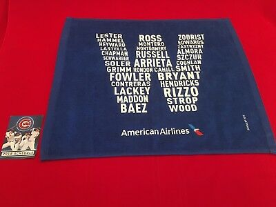 2016 MLB Chicago Cubs NLCS-NLDS rally towel + schedule / Baez / Bryant / Rizzo
