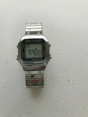 Casio Men Ladies Digital Alarm Quartz Timer Silver Watch A168WA A178W A178WA-1A