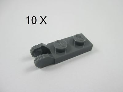 Lot of 2 Lego BLACK 1x2 HINGE PLATE with 2 Fingers