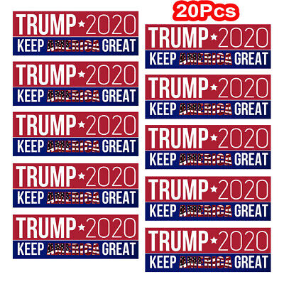 20Pcs Donald Trump Keep America Great Car Bumper Stickers President 2020 jc