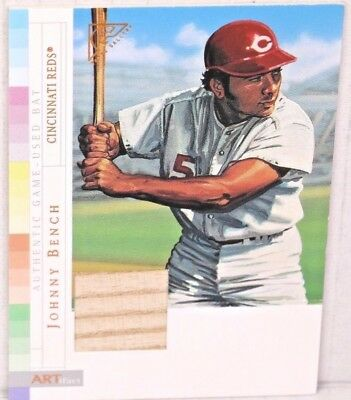 2003 JOHNNY BENCH Topps Gallery ARTifact Hall of Fame Edition Game Used Bat Reds