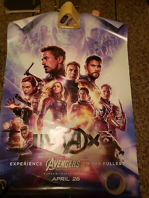 DAMAGED Avengers Endgame DS 27x40 Poster IMAX Version OS Theatrical Original