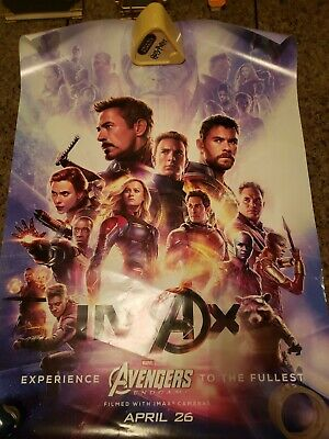USED Avengers Endgame IMAX Theatrical Poster 27x40 Original DS One Sheet