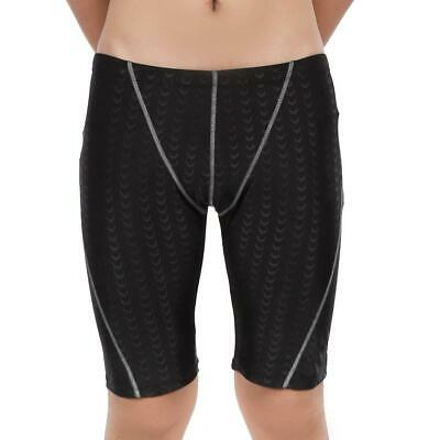 Men Male Keep Diving Competitive Swim Trunks Swimwear Shorts for Swimming Silver