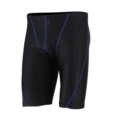 Men Male Keep Diving Competitive Swim Trunks Swimwear Shorts for Swimming Blue