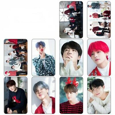 10PCS KPOP BTS Bangtan Boys Love Yourself Photocard Crystal Card Stickers New