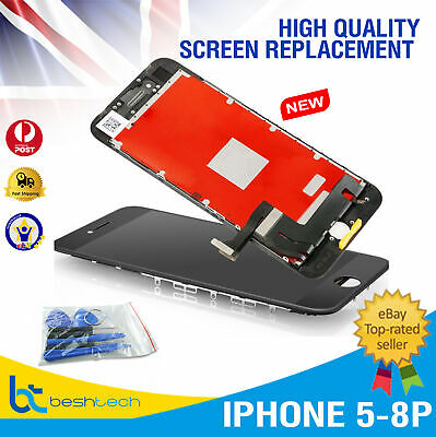 LCD Digitizer Touch Screen Replacement Assembly iPhone 5,6,6S,6+,8,8P AAA+ Grade