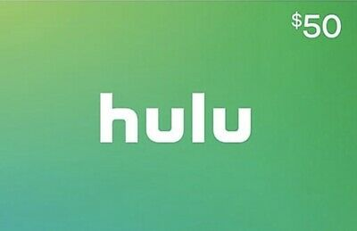 Hulu Gift Card $50 Fast Delivery