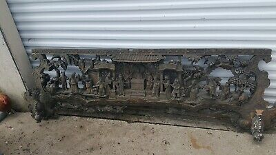 antique China Wood tempo carving