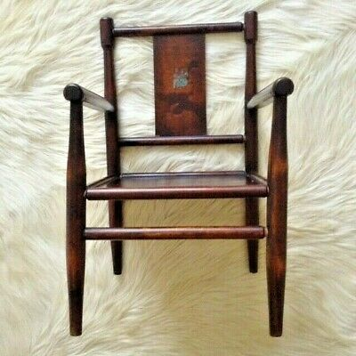 Antique Nursery CHILDS CHAIR Arts & Craft Aesthetic Edwardian retro