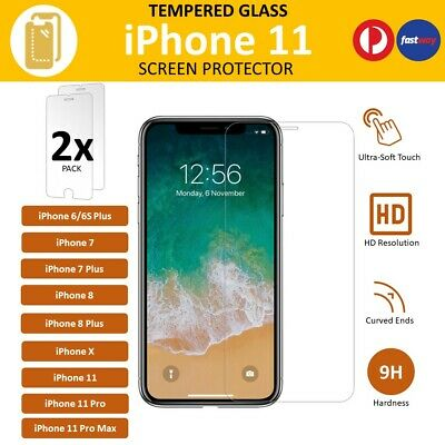2X Tempered Glass Screen Protector Scratch Resist For Apple iPhone X 8Plus 8 7 6