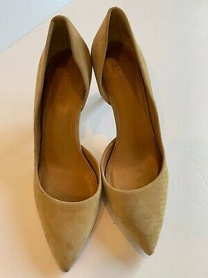 a97c2087d2b J CREW WOMEN'S Nude Beige Suede Pointy Toe Heels Pumps Shoes SZ 7 1/2
