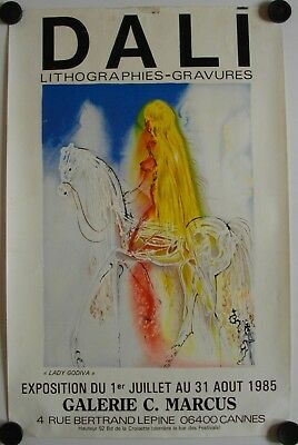 Affiche DALI Lady Godiva 1985 Exposition Galerie G. Marcus – Cannes