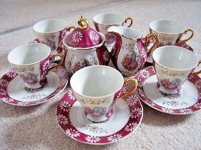 Made in Japan limoges style porcelain tea-coffee set