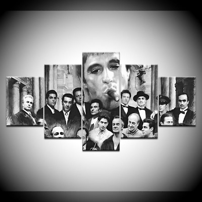 Godfather Goodfellas Scarface Sopranos Canvas Prints painting Wall Art Poster 5P