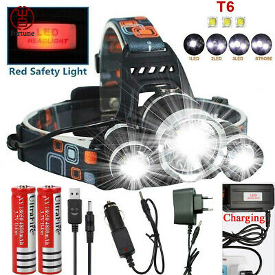2019 New Rechargeable 100000LM LED Headlamp Torch Flashlight Work Light Lamp