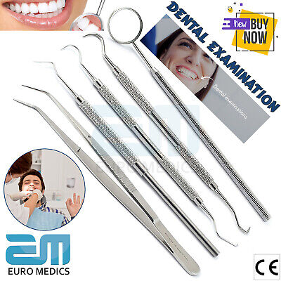 Dental Tooth Cleaning Kit Dentist Scraper Calculus Plaque Remover Tool Oral Set