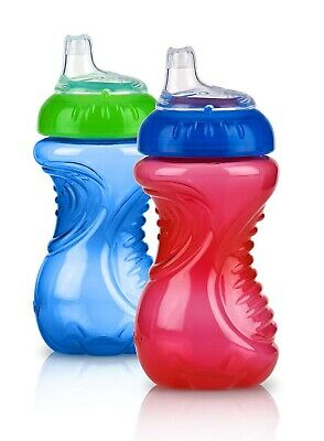 Baby Drinking Trainer Cup Toddler First Water Bottle No Spill Easy Grip 2 Piece