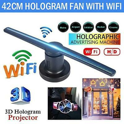 3D LED WiFi Holographic Projector Display Fan Hologram 360°Advertising Player
